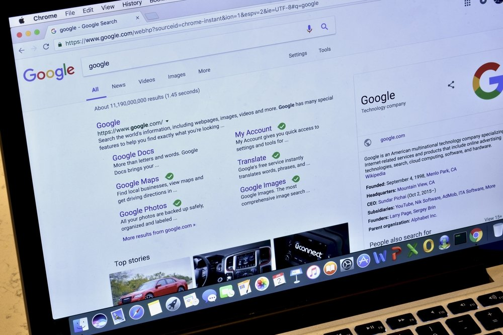 google search results page - 2 Quick Ways to Check Visibility of Your Website on Google